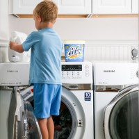laundry time saving tip: teach your kids to do their own! Simple tips to teach young children to do their own laundry...