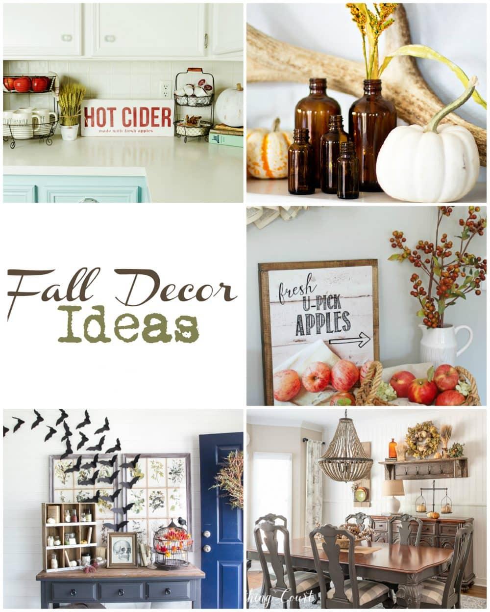 So many cute fall decor ideas!