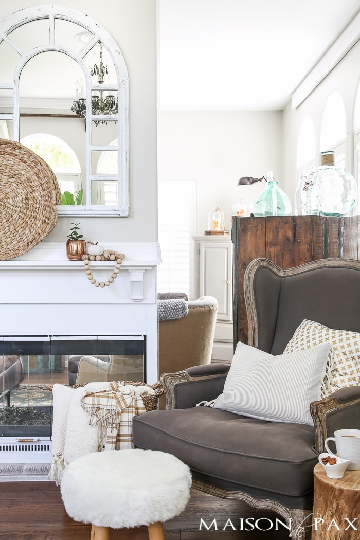 Neutral Easy Fall Decorations and Home Tour - Maison de Pax