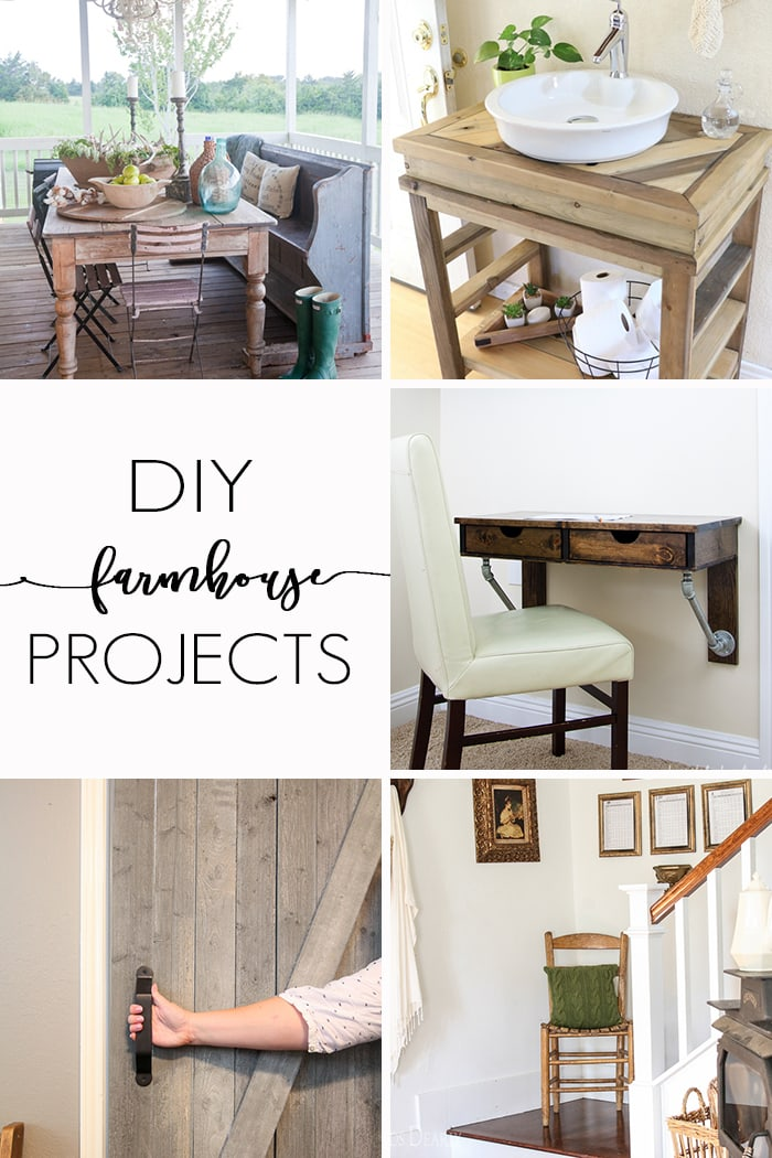 DIY Farmhouse projects: diy projects from furniture building to decorating to give your home that charming, farmhouse look.