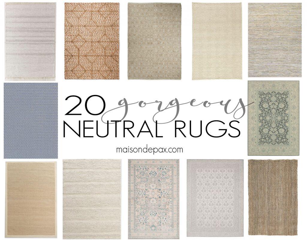 20 Gorgeous Neutral Rugs Maison De Pax
