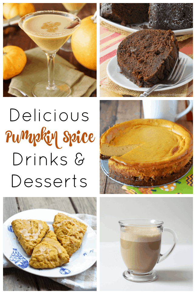 Pumpkin Recipes: pumkin spice drinks and desserts