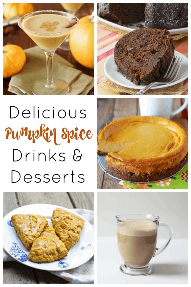 Pumpkin Recipes: pumkin spice drinks and desserts