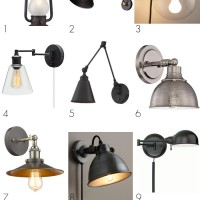 Affordable Modern Farmhouse Sconces: Swing arm wall lamps, rustic modern metal and glass sconces... Perfect for bedside, kitchen, office, anywhere!