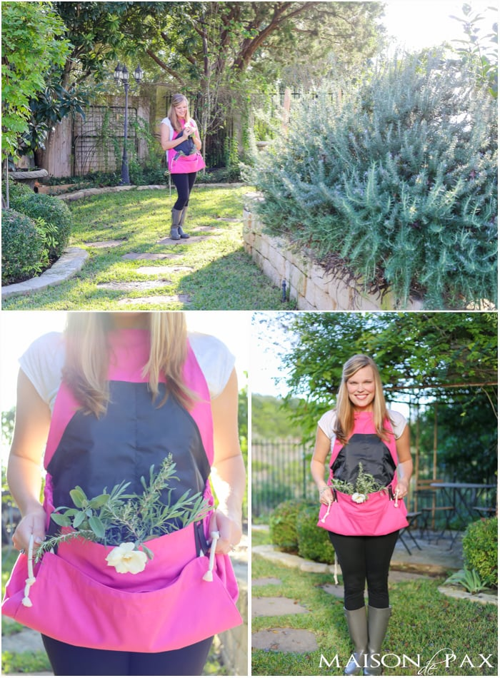 What an awesome gardening apron! So cute and functional.
