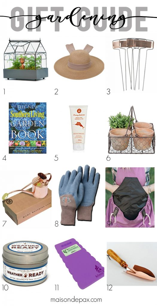 Looking for a Christmas gift for a gardener? Whether they have a green thumb or simply love the outdoors, these gifts are perfect for moms, friends, teachers, and sisters. Click to see this holiday gardening gift guide!