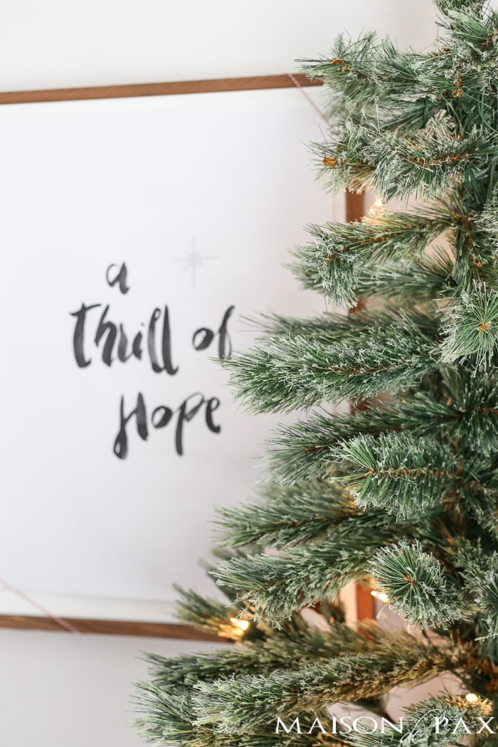 thrill of hope free christmas printable maison de pax