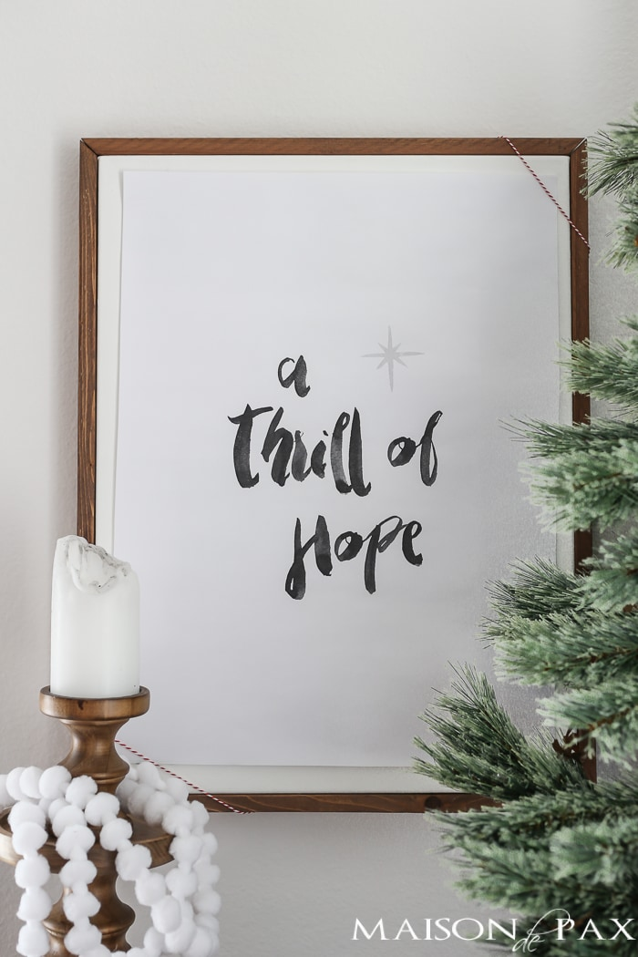 Thrill of Hope Free Christmas Printable - Maison de Pax