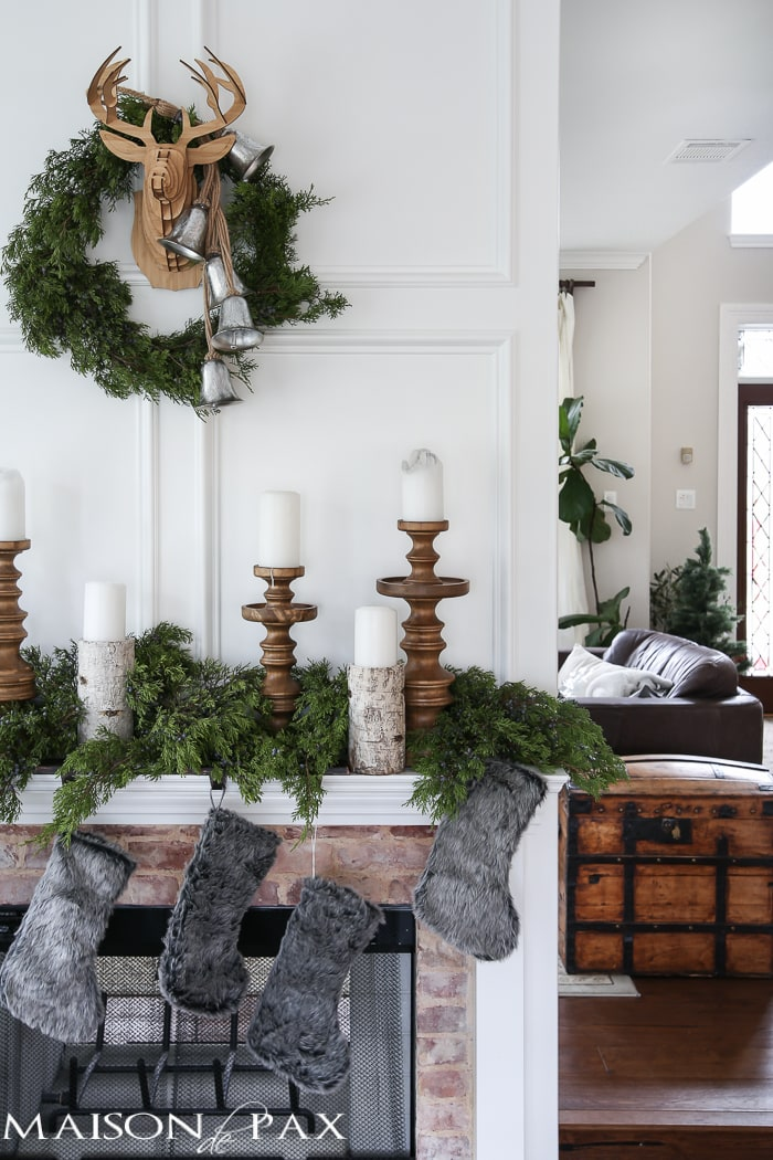 Winter Woodland Christmas Mantel - Maison de Pax