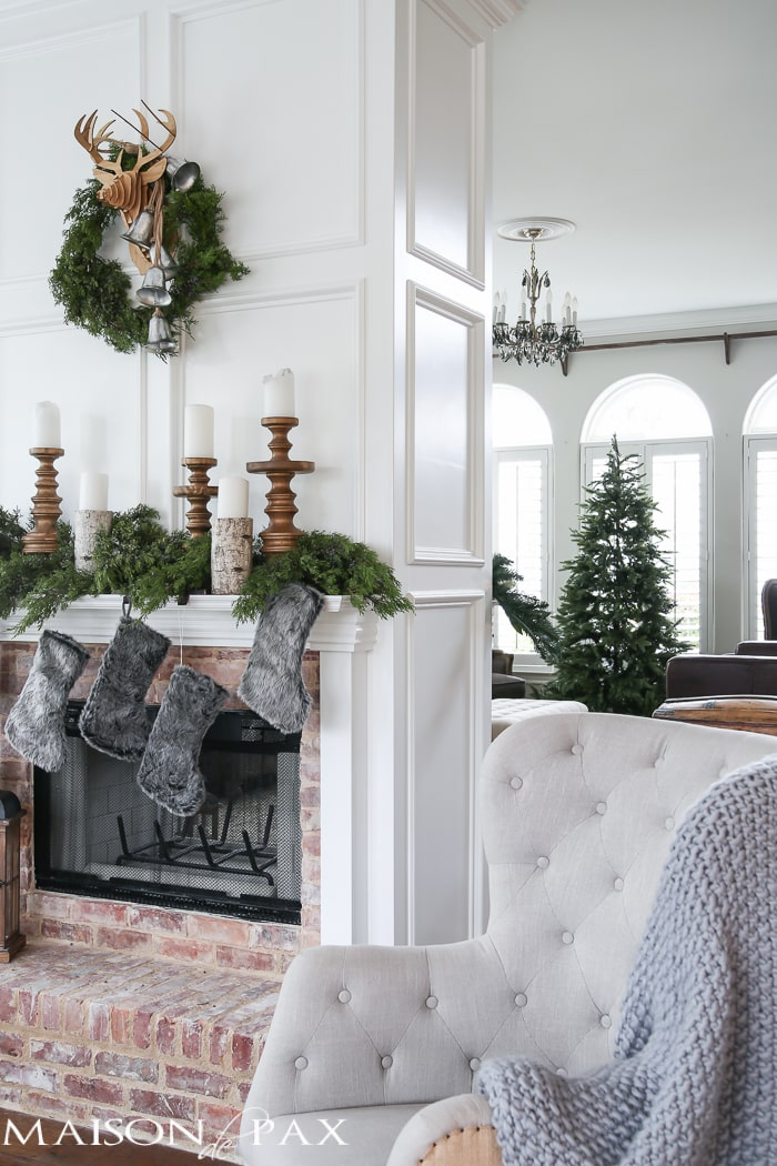 Winter Woodland Christmas Mantel: Looking For Mantel Decorating Ideas? Some  Fresh Cut Cedar,