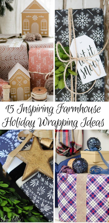 15 Inspiring Farmhouse Holiday wrapping ideas