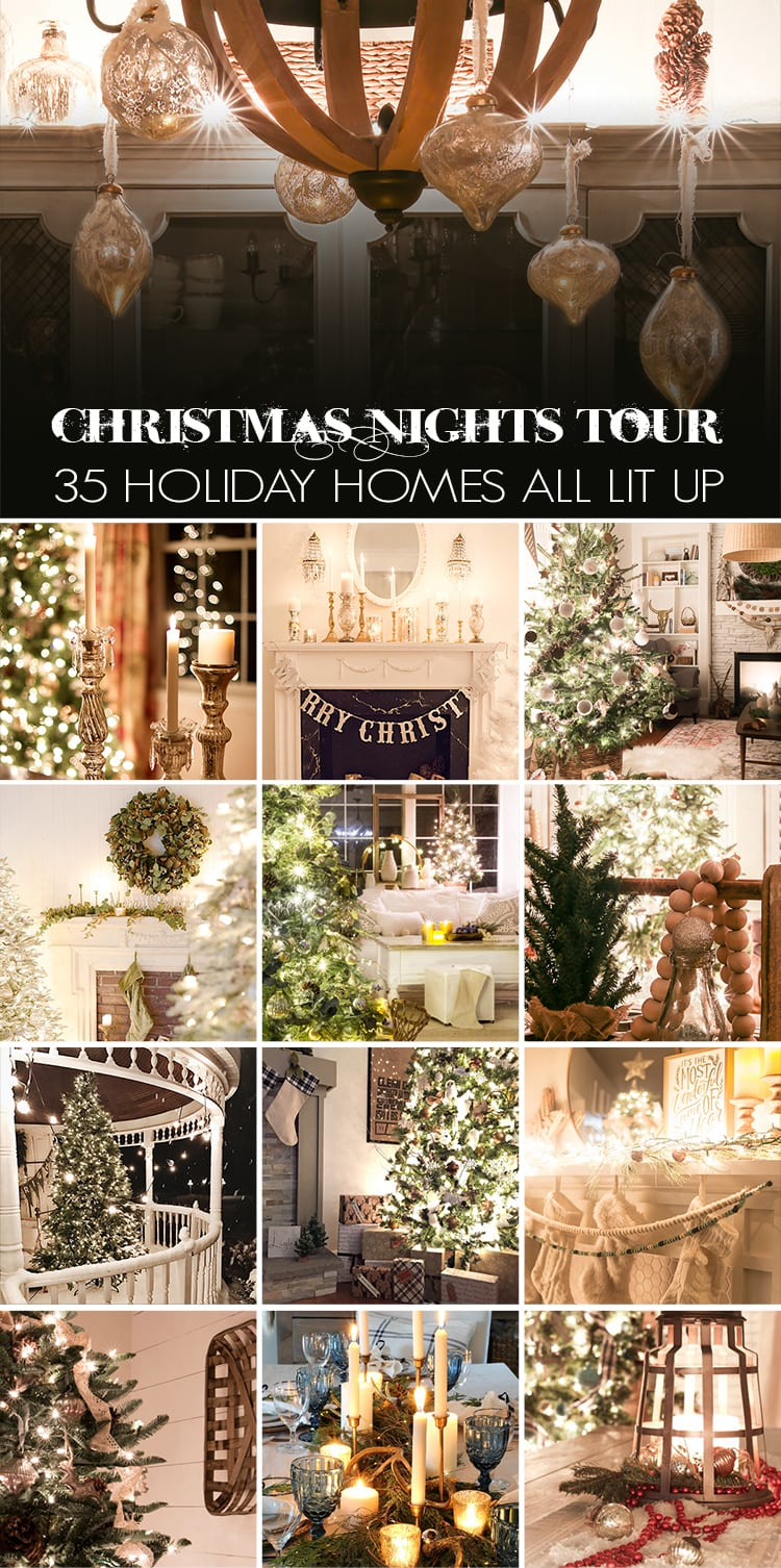 Christmas Nights Tour: Incredible! 35 beautiful homes all decorated for the holidays and lit up by candlelight and Christmas lights.