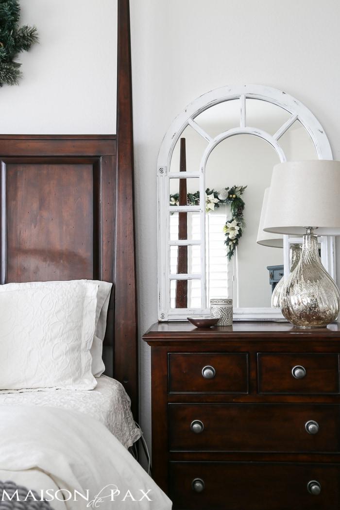 White Christmas Bedroom Decor : White christmas master bedroom maison de pax