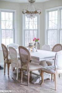 beautiful, bright, clean breakfast table space!
