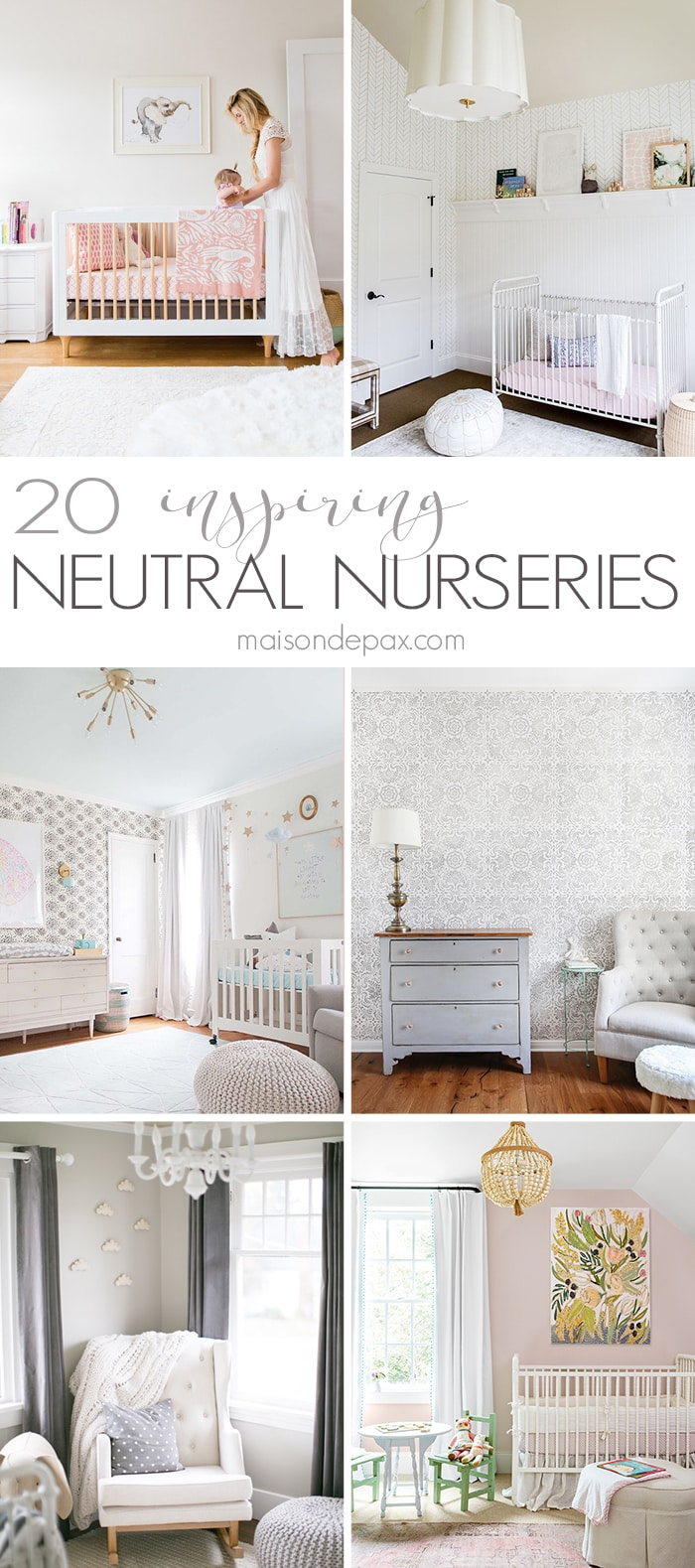 Looking for neutral nursery decorating ideas? These gorgeous nurseries leave you swooning with their subtle, soothing baby decor.