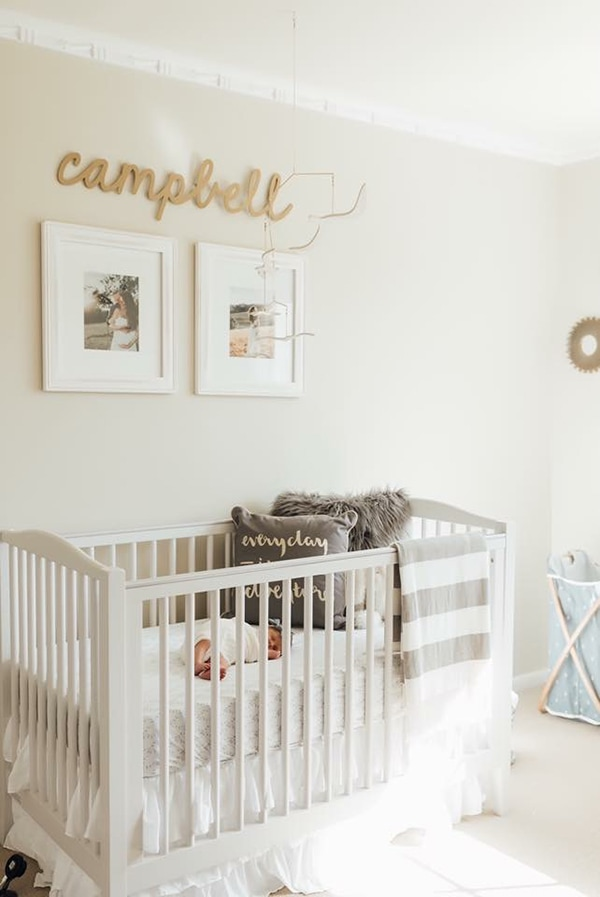 creamy white nursery