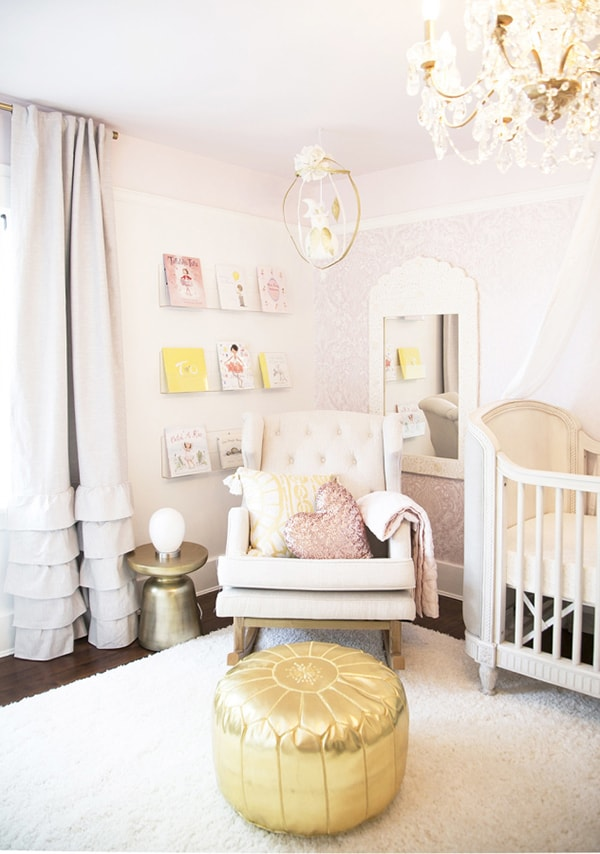 neutral and blush nursery